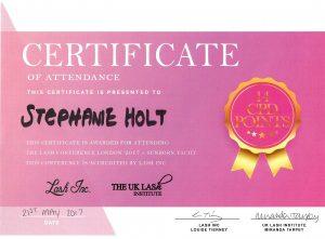 Certificaat Lash Inc