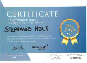 Certificaat Lash Judge