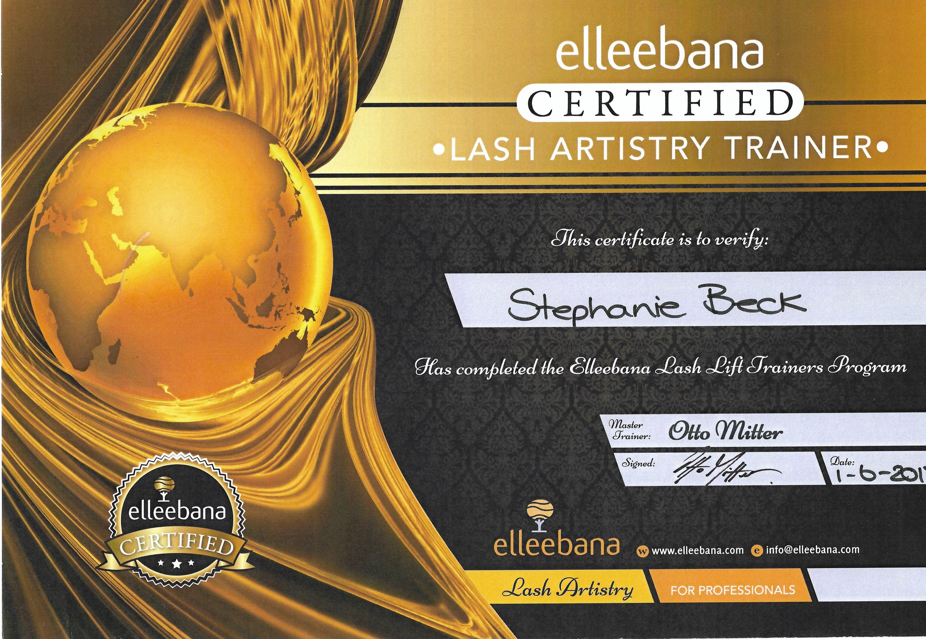 Certificaat Official Elleebana Trainer